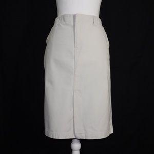 Old Navy Tan Khaki Knee Length Skirt Size 12